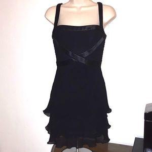 Vintage 90s ESCADA Couture Sexy Black Satin Straps